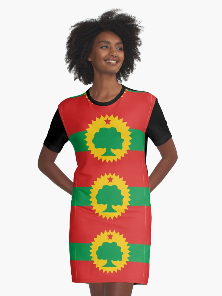 'Flag of the Oromo People (Oromoo)' Graphic T-Shirt Dress by Tonbbo