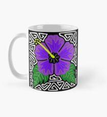 Purple hibiscus w/ swirl mola Mug