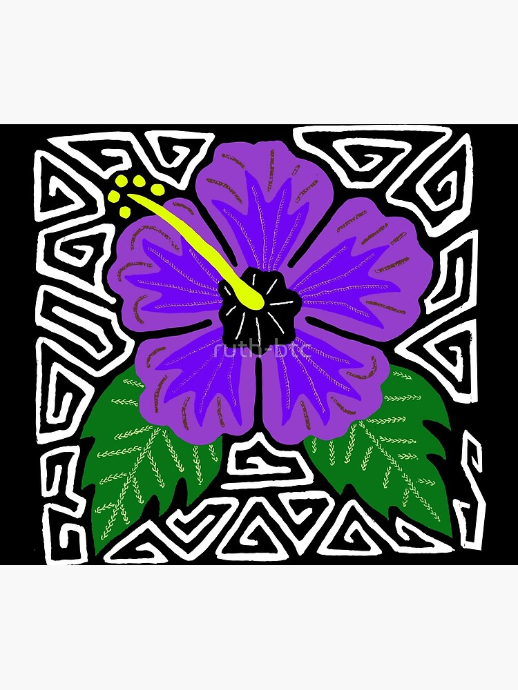 Purple hibiscus w/ swirl mola by ruth-btc