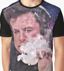 Elon Musk Smoking Graphic T-Shirt