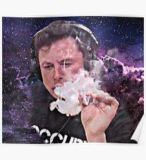 Elon Musk Rauchen Poster