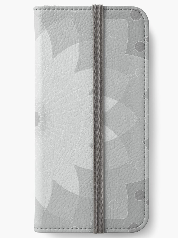 free shipping 6ed14 2ccc2 'Grey mandala #redbubble #decor #buyart #artprint' iPhone Wallet by lyovajan