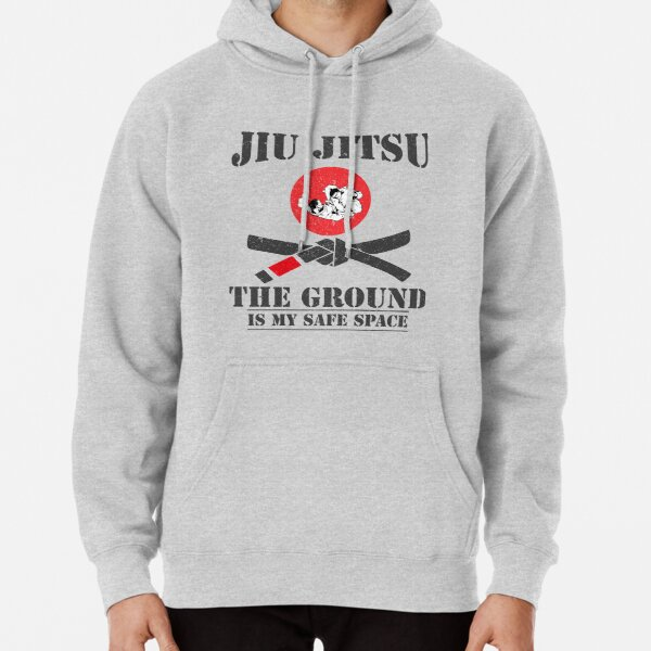 The Ground Is My Safe Space - Funny Bjj Brazilian Jiu Jitsu Grappling T-Shirt  Pullover Hoodie