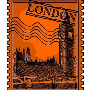 London Stamp Orange by pda1986