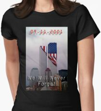 9-11 - We Will Never Forget Women's Fitted T-Shirt