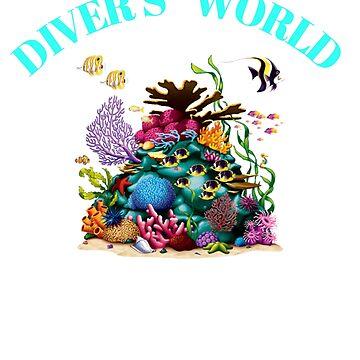 Diver's World Scuba Diving Design by oceanus183