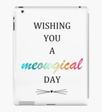 Meowgical day iPad Case/Skin