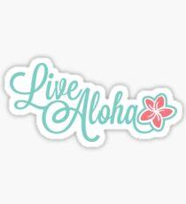 Pegatina Live Aloha, Plumeria
