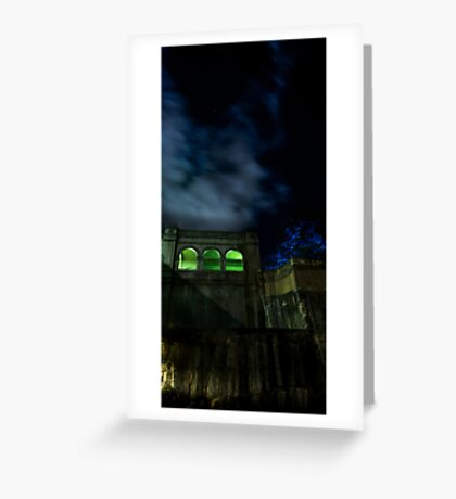 Green Arches Greeting Card