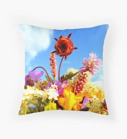 Wildflower Greetings Throw Pillow