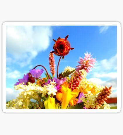 Wildflower Greetings Sticker