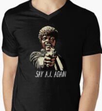 SAY A.I. AGAIN Men's V-Neck T-Shirt