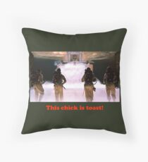 This chick is toast! Throw Pillow