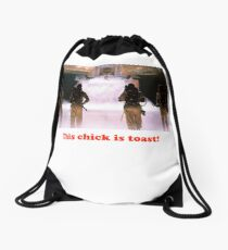 This chick is toast! Drawstring Bag