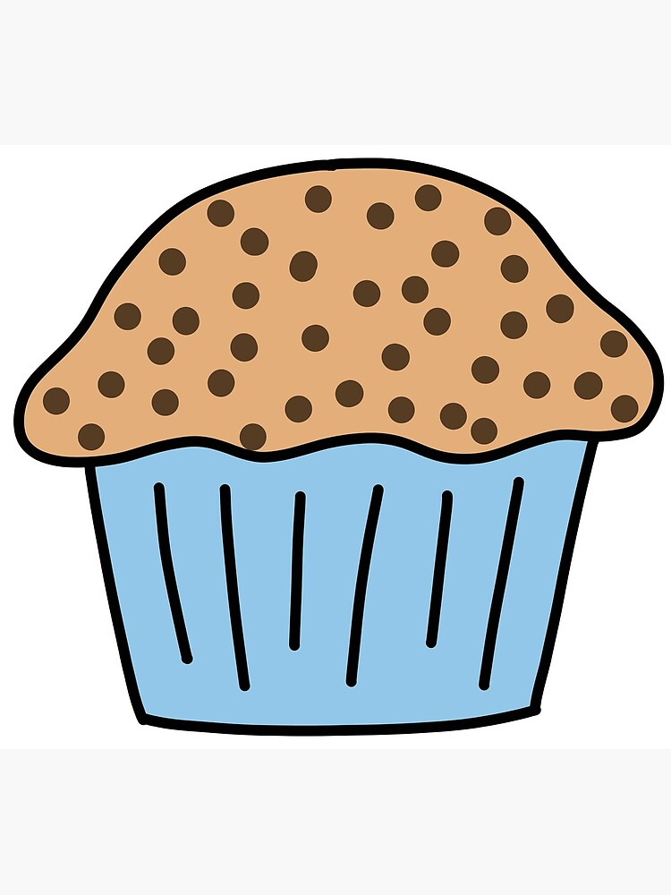 Chocolate Chip Muffin Greeting Card By Hintofmint Redbubble