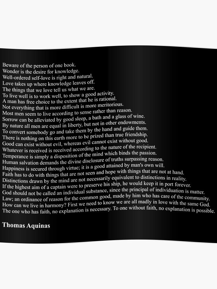 Thomas Aquinas Quotes | Poster