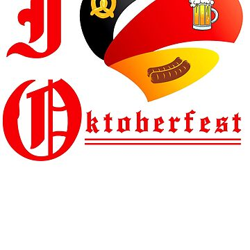Oktoberfest 2018 - I Love Oktoberfest - Flag by design2try
