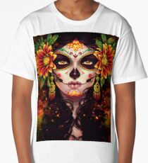 Dia De Los Muertos-Day Of The Dead Art Long T-Shirt