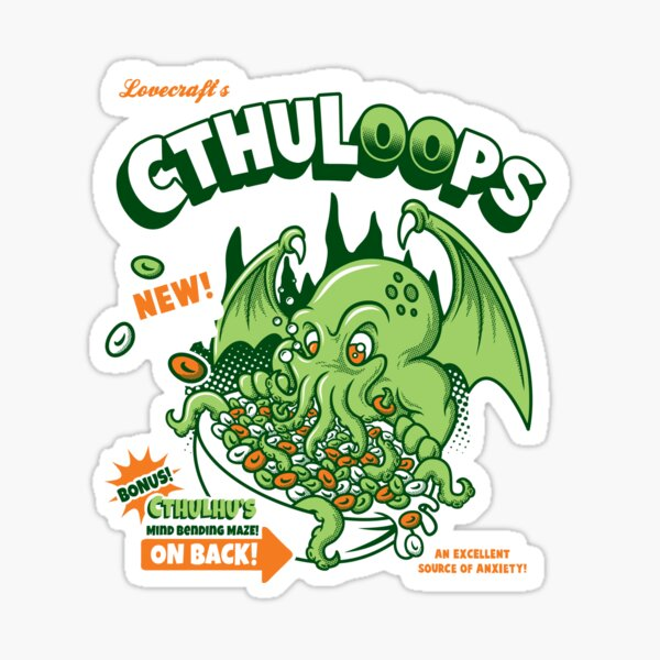 Cthuloops! All New Flavors! Sticker