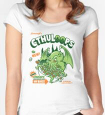 Cthuloops! All New Flavors! Women's Fitted Scoop T-Shirt