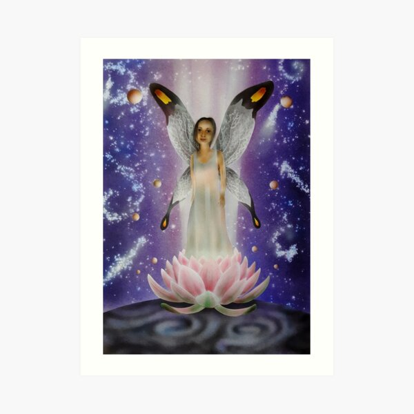 Water lily energy Art Print