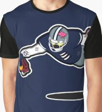 Zombie Football Player, DALLAS w/Washington Skull Graphic T-Shirt