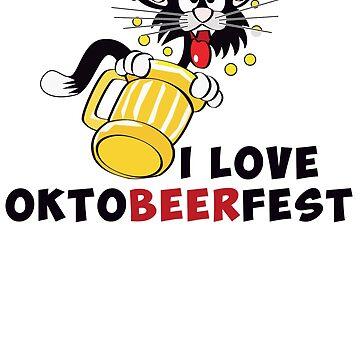 Oktoberfest 2018 - I Love Oktoberfest - Cat by design2try