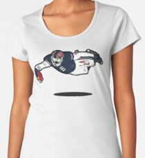 Zombie Football Player, LOS ANGELES w/San Francisco Skull Women's Premium T-Shirt