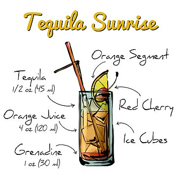 Tequila Sunrise Recipe by HuckleberryArts
