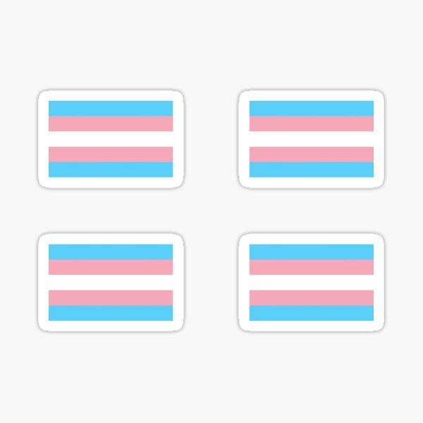 Transgender Pride Flag 4 pack Sticker