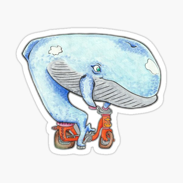 A Whale of a Bike Ride Sticker
