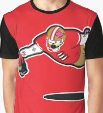 Zombie Football Player, SAN FRANCISCO w/Seattle Skull Graphic T-Shirt