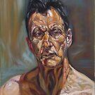 self-portrait after Lucian freud  by Hidemi Tada