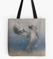 Happy dolphins Tote Bag