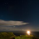 Cape Reinga lighthouse at night 4 by Paul Mercer