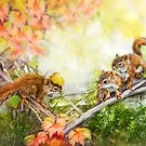Mischievous Squirrels by Renee Dawson