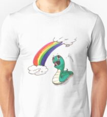Cute snake with RAINBOW! T-Shirt