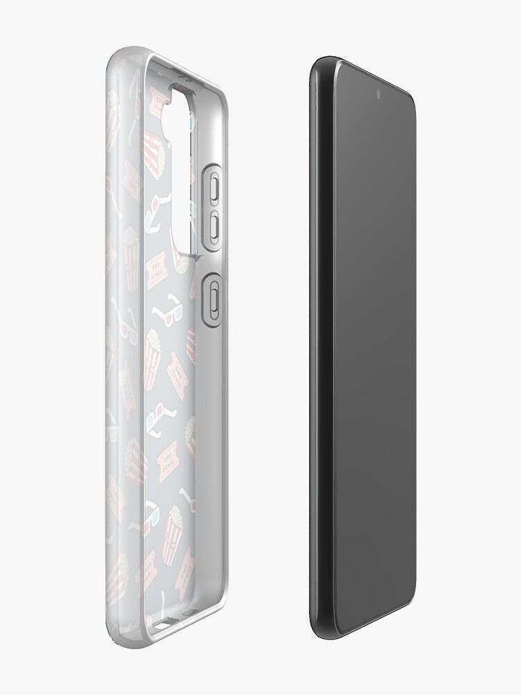 Alternate view of Movie Pattern in Dark Blue Case & Skin for Samsung Galaxy