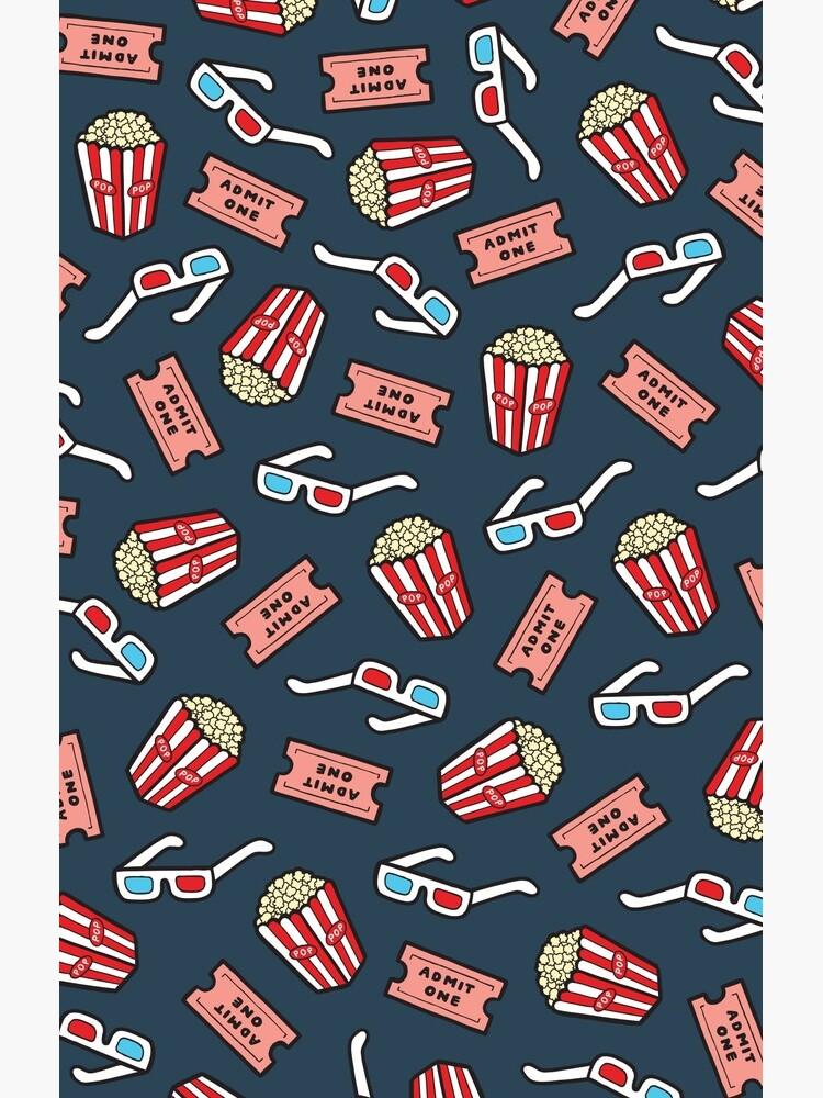 Movie Pattern in Dark Blue by evannave
