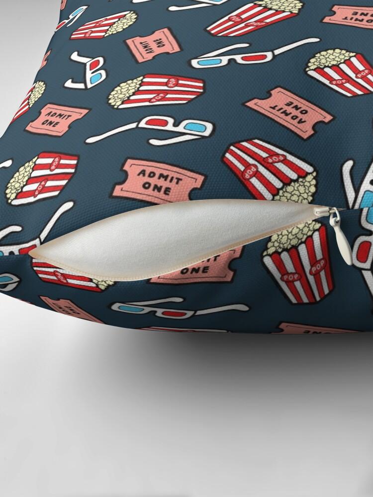 Alternate view of Movie Pattern in Dark Blue Floor Pillow