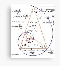 Golden Triangle / Logarithmic Spiral Canvas Print