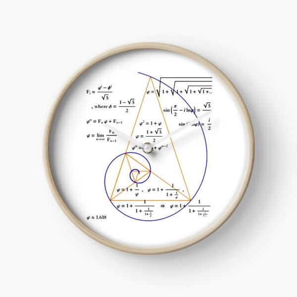 Golden Triangle / Logarithmic Spiral Clock