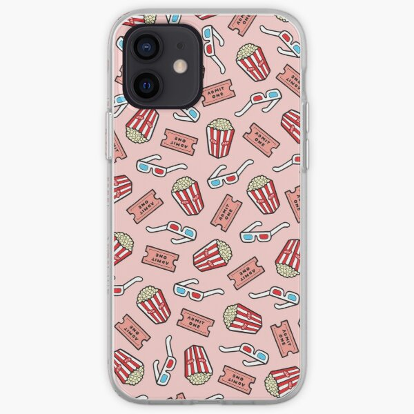 Movie Pattern in Pastel Pink iPhone Soft Case