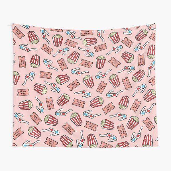 Movie Pattern in Pastel Pink Tapestry