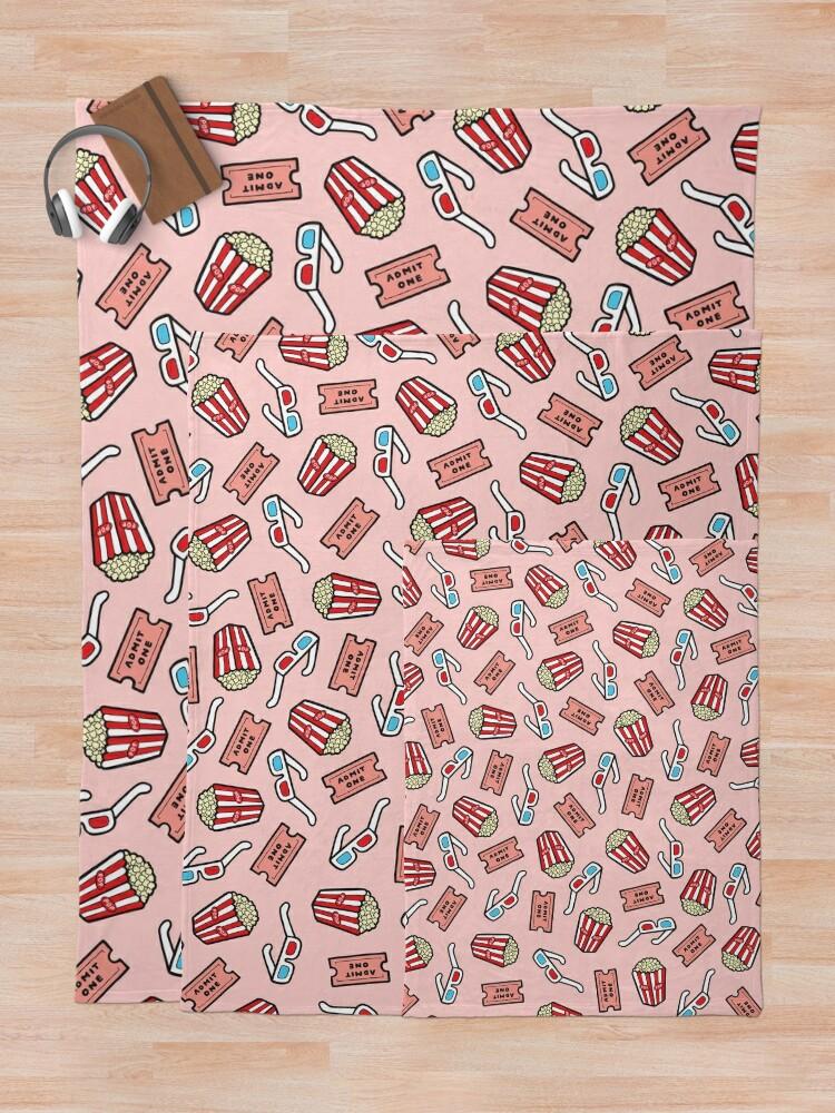 Alternate view of Movie Pattern in Pastel Pink Throw Blanket