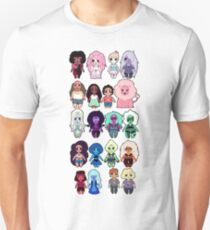 Steven Universe Cast in Chibi Style T-Shirt