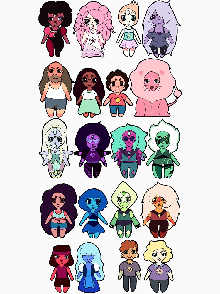 Steven Universe Cast in Chibi Style | Unisex T-Shirt