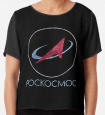 POCKOCKMOC Russian Space Agency Chiffon Top