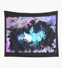 Dragon Blue Flames Wall Tapestry