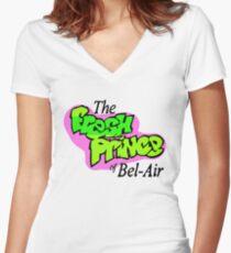 Fresh Prince logo Women's Fitted V-Neck T-Shirt